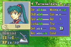 Fire Emblem - Character Profile Final stage stats - 4 Good maxed stats. o: - User Screenshot